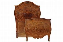 PAIR LATE NINETEENTH-CENTURY WALNUT AND INLAID TWIN SINGLE BEDENDS