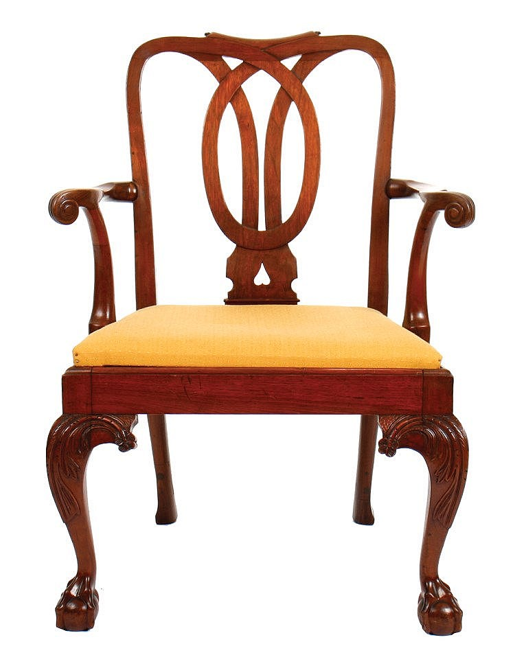Eighteenth Century Period Chippendale Elbow Chair Circa 177