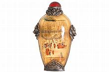 REPUBLICAN PERIOD CHINESE GLASS INSIDE PAINTED SNUFF BOTTLE