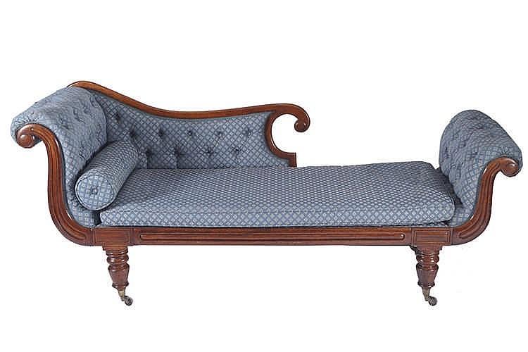 Regency period mahogany chaise longue for Chaise longue ireland