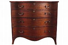 REGENCY PERIOD MAHOGANY SERPENTINE CHEST