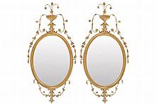 PAIR GILT FRAMED PER MIRRORS