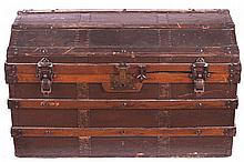 NINETEENTH-CENTURY LEATHER TRUNK