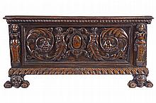 ITALIAN EIGHTEENTH-CENTURY PERIOD WALNUT CASSONE