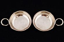 TWO EIGHTEENTH-CENTURY FRENCH  SILVER PERSONALIZED WINE TASTERS