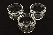 THREE GEORGE III PERIOD WINE GLASS RINSERS