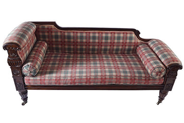 William iv period rosewood chaise longue stamped williams for Chaise longue ireland