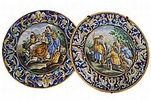PAIR OF NINETEENTH-CENTURY MAJOLICA CHARGERS
