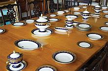 LARGE EARLY TWENTIETH-CENTURY CZECHOSLOVAKIAN PORCELAIN PARCEL GILT DINNER SERVICE
