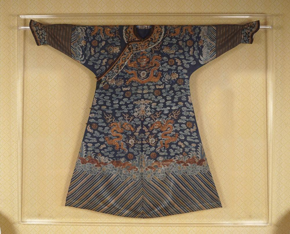CHINESE QING DYNASTY IMPERIAL COURT SILK ROBE
