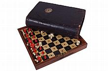 NINETEENTH-CENTURY JACQUES TRAVELLING CHESS SET