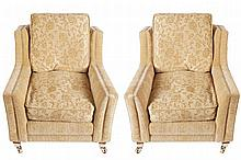 PAIR OF KNOWL STYLE ARMCHAIRS
