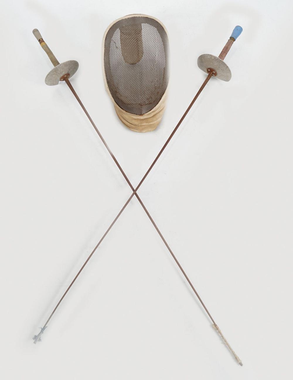 Lot 28: TWO FENCING SWORDS