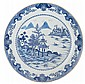 Chinese Qing period blue and white charger