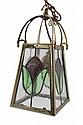 Edwardian brass dinner lantern