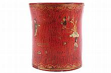 CHINESE LACQUERED BRUSH POT