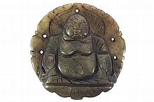 MING DYNASTY GREEN JADE BUDDHA