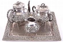 NINETEENTH-CENTURY CHINESE SILVER TEA SERVICE