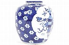 NINETEENTH-CENTURY CHINESE BLUE AND WHITE GINGER JAR
