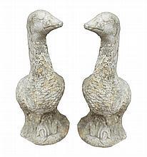 Pair of stone geese