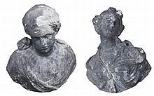 Pair stone classical busts, circa 1700