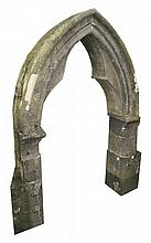 Eighteenth-century Gothic stone arch
