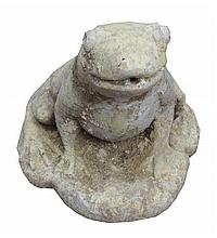 Stone frog water feature