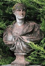 Large terracotta bust
