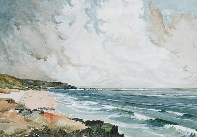 A. Hamilton Irish School, Pair of seascapes, Each