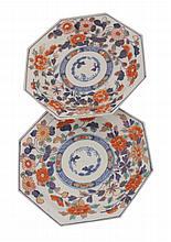 Pair of eighteenth-century Chinese Imari plates