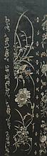 Pair of nineteenth-century Chinese silk embroideries