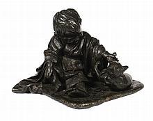 Large nineteenth-century Japanese bronze group