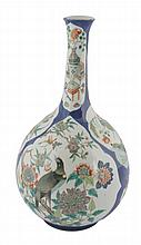 Chinese Qing period bottle-shaped vase