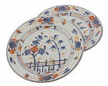 Two eighteenth-century Imari plates