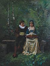Pierre-Marie Beyle, 1838 - 1902 Lovers in a