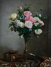 Paul C. Jance, 1840 - 1915 Still life of roses,