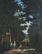 Jules Monge, b. 1855 The Rendezvous, Oil on