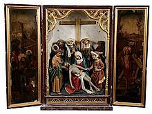 A rare late fifteenth century portable altarpiece