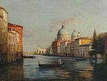 Antoine Bouvard, b. 1870 A Venetian backwater, Oil