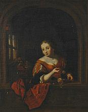 Dutch School, eighteenth-century Young girl at a