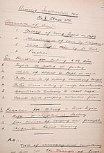Captain John SCOTT Two handwritten notebooks, 1915