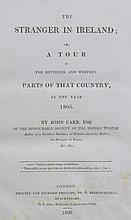 John CARR The Stranger in Ireland London: Richard