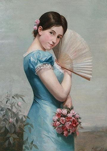 Emile Charlet Circa 1878 Rose: a portrait of a