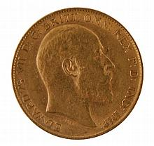 Gold half sovereign, dated 1904