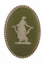 Wedgwood Jasperware cameo brooch
