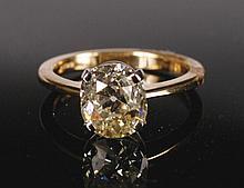 18 ct. yellow gold 2.4 ct. diamond solitaire