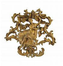 Nineteenth-century bronze clock ornament