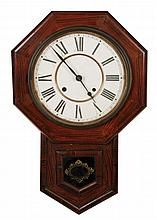 American 8 day schoolhouse clock