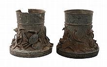 Pair of large nineteenth-century bronze Oriental urns