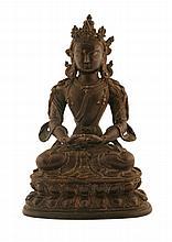 18/19th century bronze Buddha